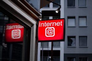 os negócios na internet